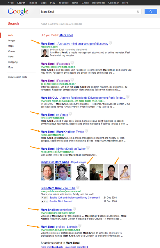 marcknoll google search before