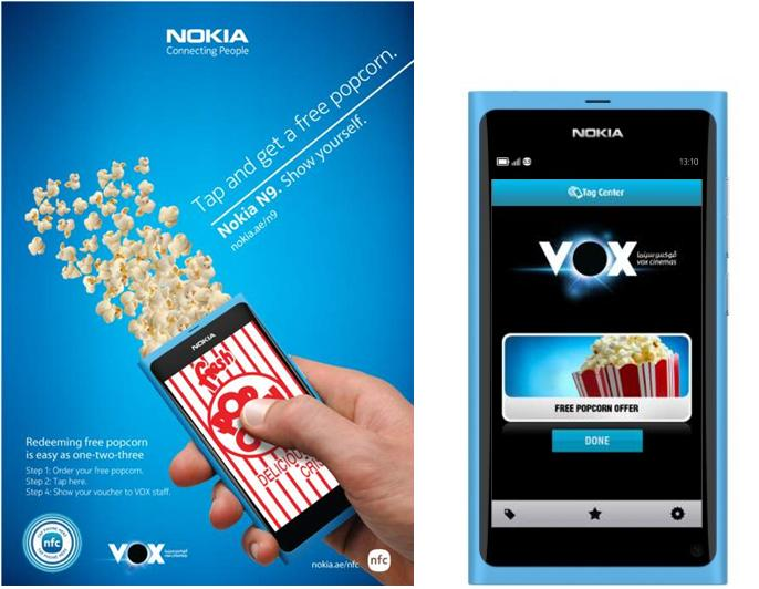 Nokia N9 and VOX NFC Campaign in Dubai