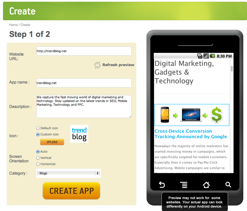 How to Create an Android App From Your Website