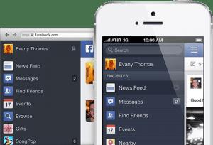 facebook new navigation