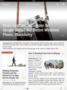 blog magazine experience ipad