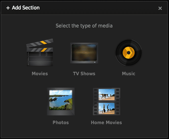 Add Section to Plex