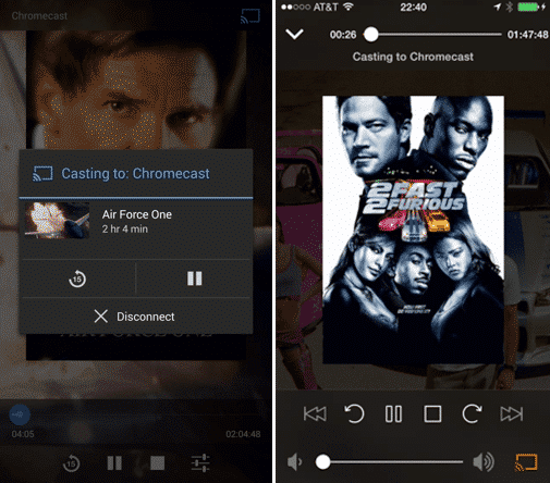 Plex Mobile App Chromecast Movie Playback