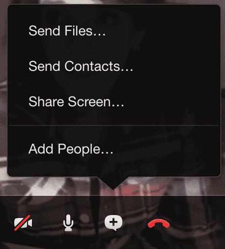 Skype share screen