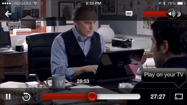 Netflix for iOS on Chromecast