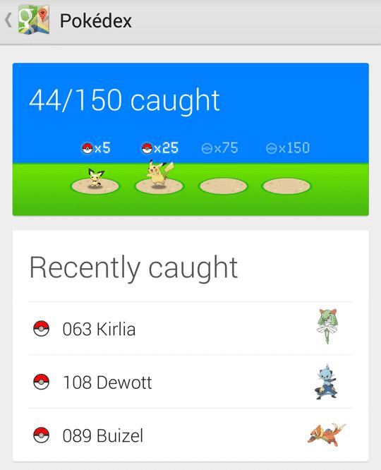 44/150 pokemon on google map
