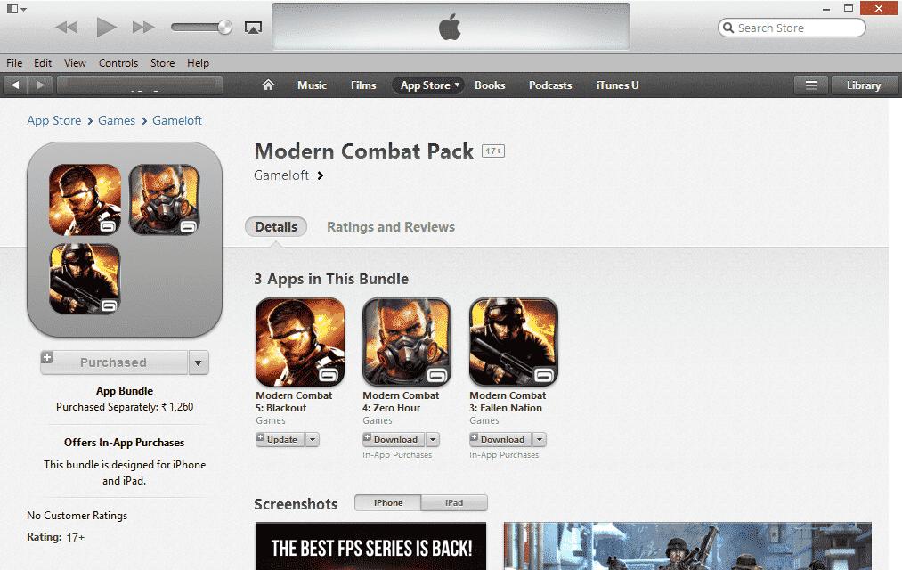 app bundles on iOS 7