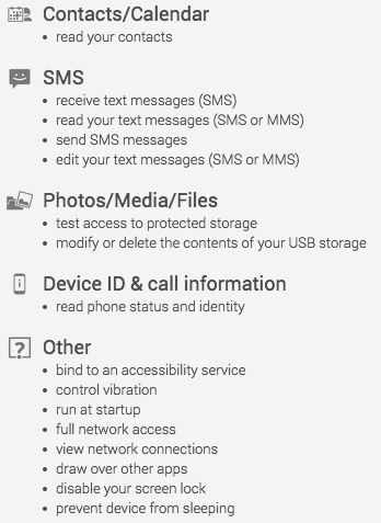 Seebye app permissions