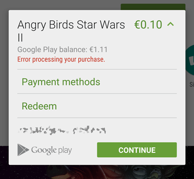 add other payment types to google play from mobile device