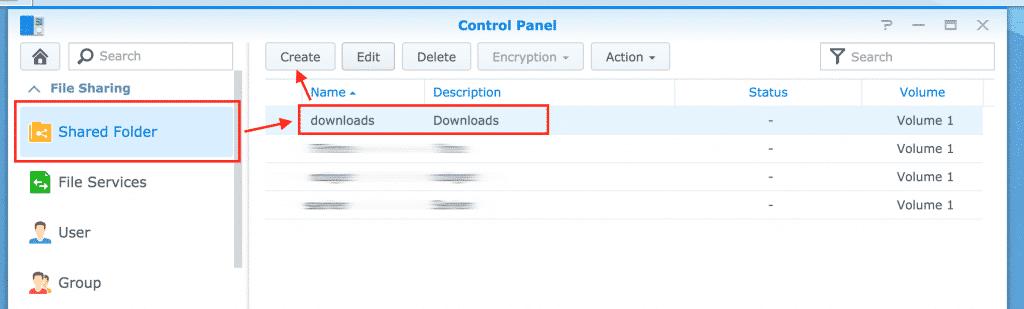 step 3 select shared folder to create rule