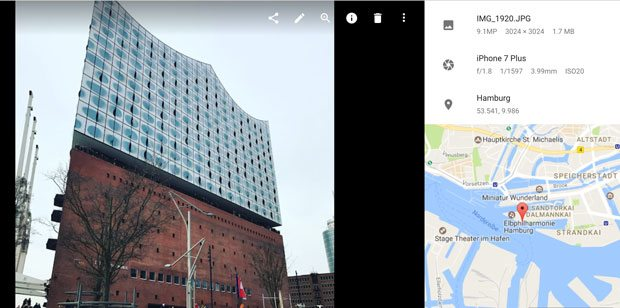 google photos location