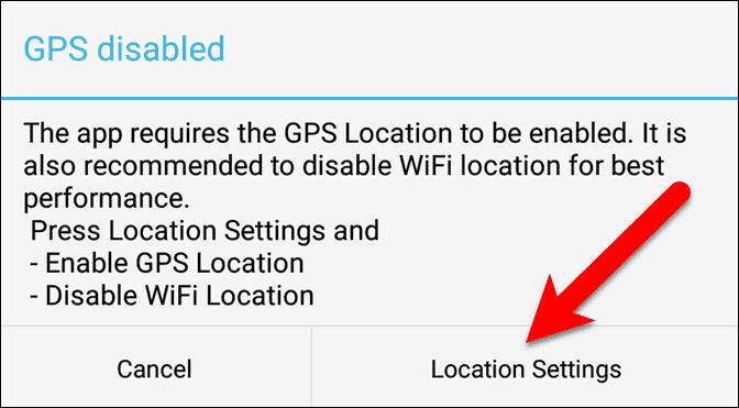 Tap Location Settings.