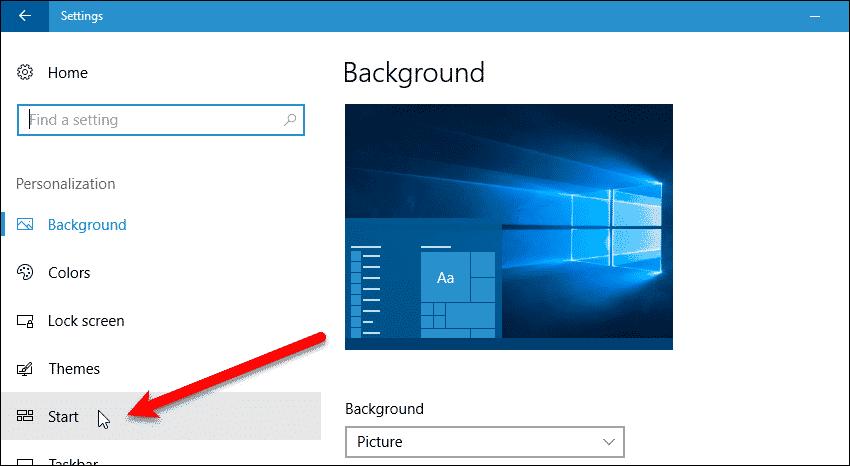 03 click start under personalization