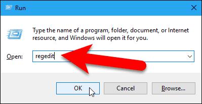 Open the Registry Editor.
