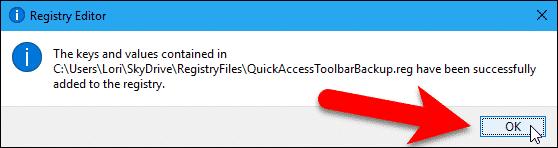 Key added to registry.