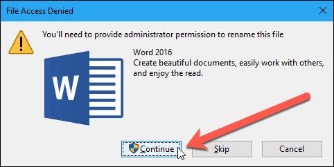43 file access denied dialog