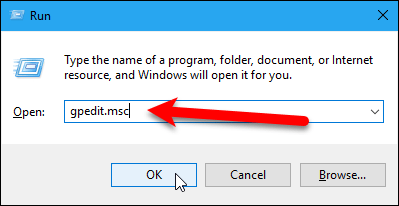 Open the Local Group Policy Editor using the Run dialog box