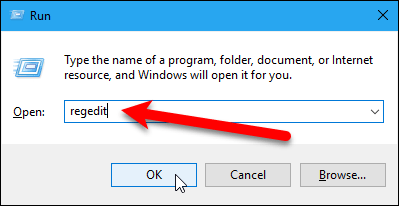 Open the Registry Editor using the Run dialog box