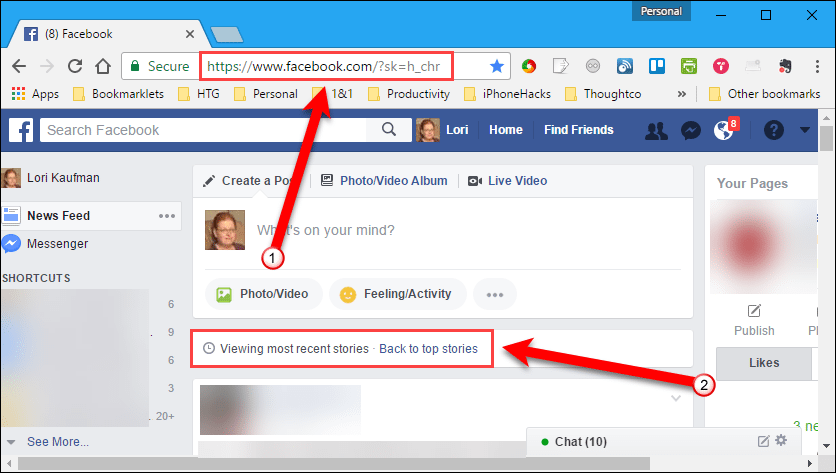 How To Always View The Most Recent Posts In Facebook