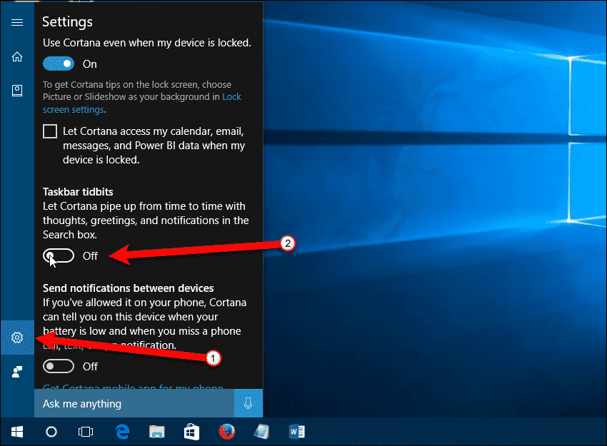 Turn off Taskbar Tidbits