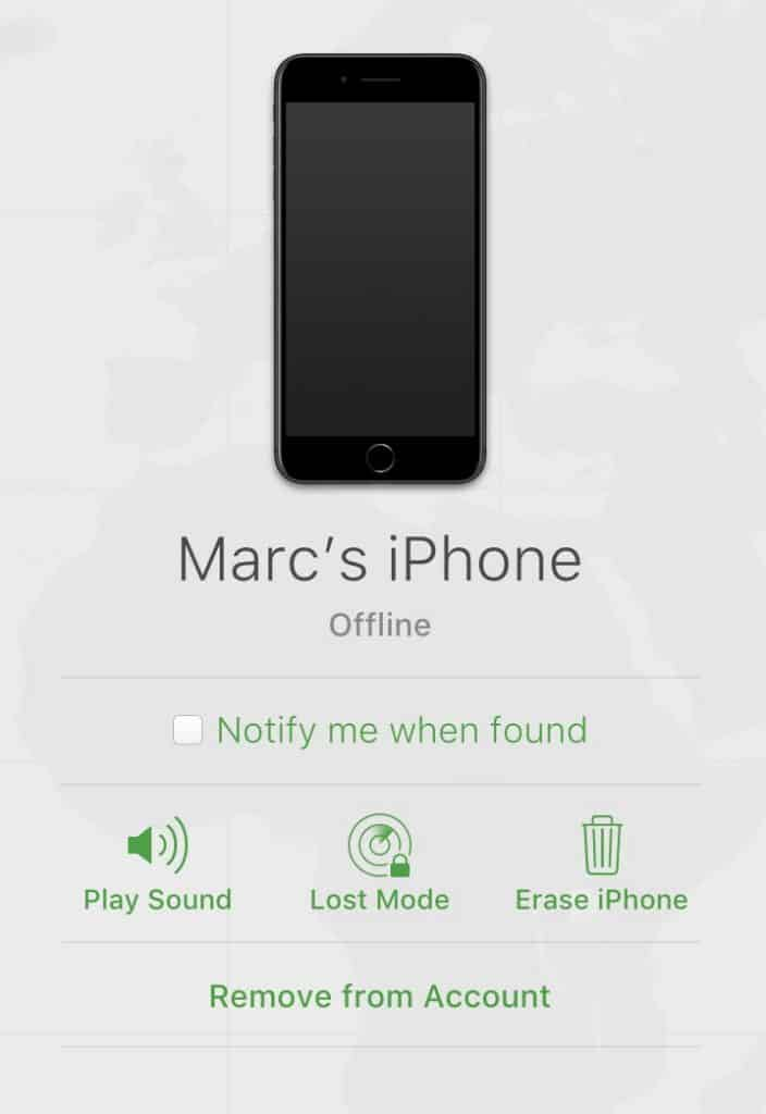 Use Find My iPhone y otras formas de rastrear un iPhone, AirPods o Mac perdido 5