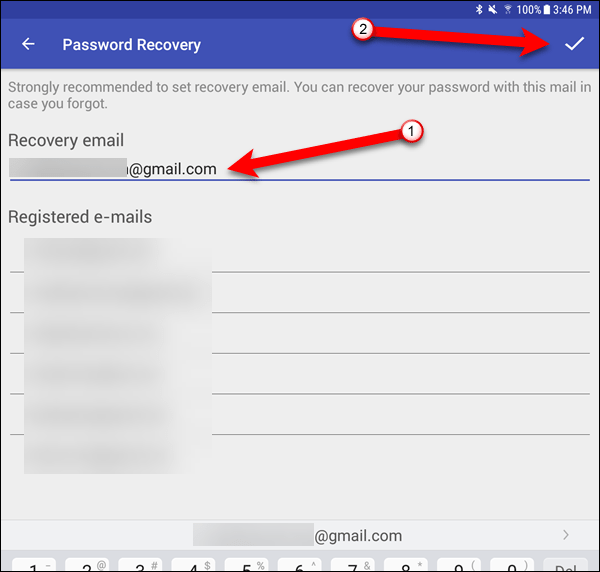 Set the Password Recovery email