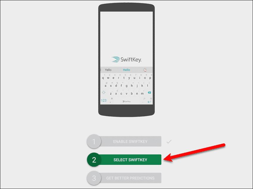 Tap Select SwiftKey