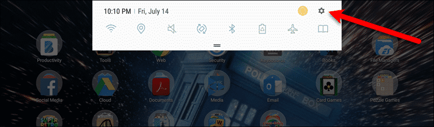 how to change the font size on samsung tablet