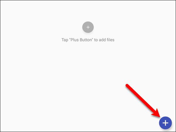 Tap the plus button
