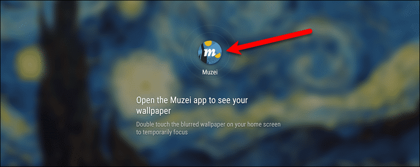 Tap the Muzei icon