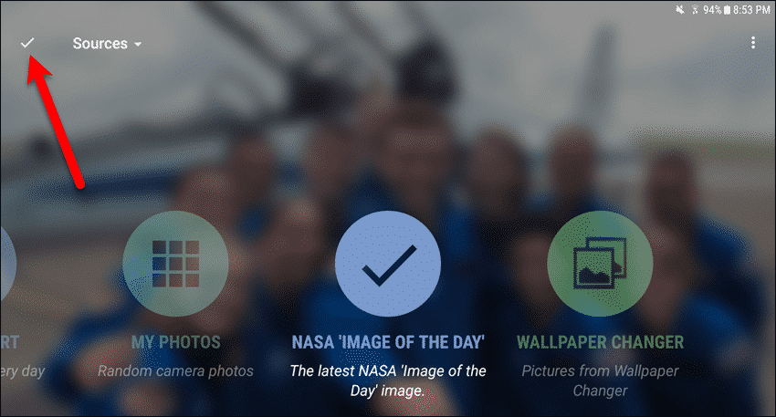 NASA icon checked