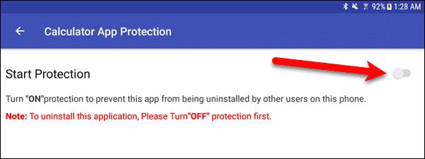 Turn on Start Protection