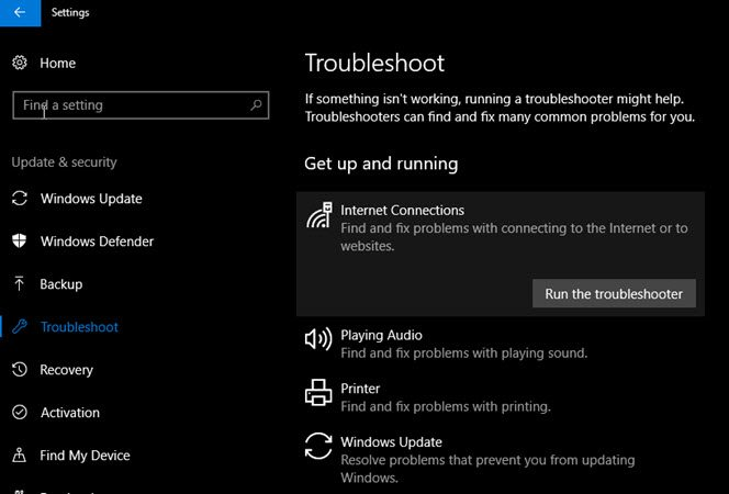 windows troubleshoot
