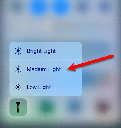 Adjust flashlight brightness level on iOS 10