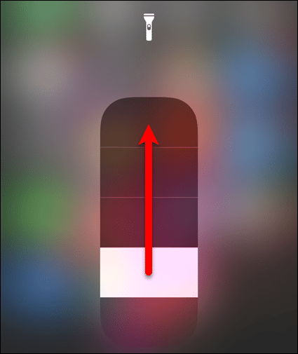 Adjust flashlight brightness level on iOS 11