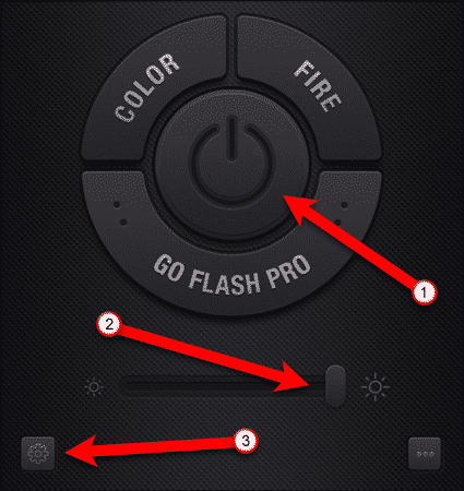 Flashlight app for iOS