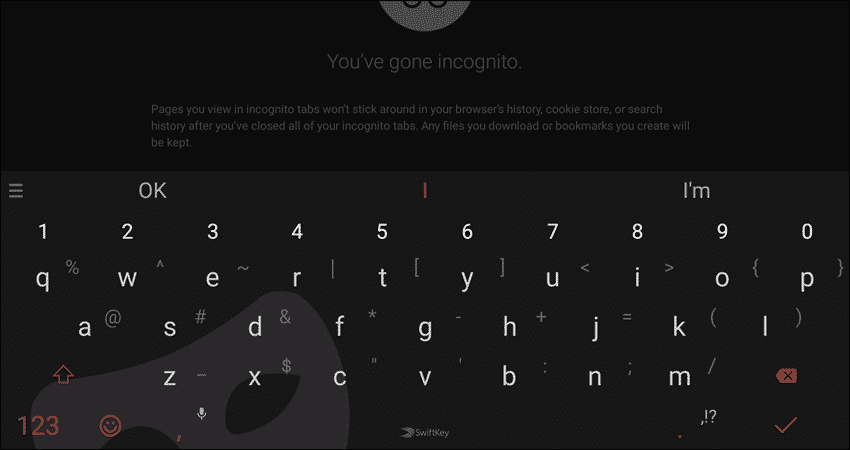 SwiftKey Keyboard's Incognito mode