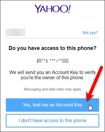 Text me an Account Key