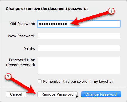 Remove Password