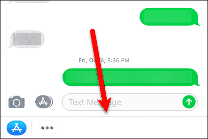 Most iMessage app icons hidden