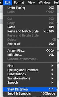 dict menu