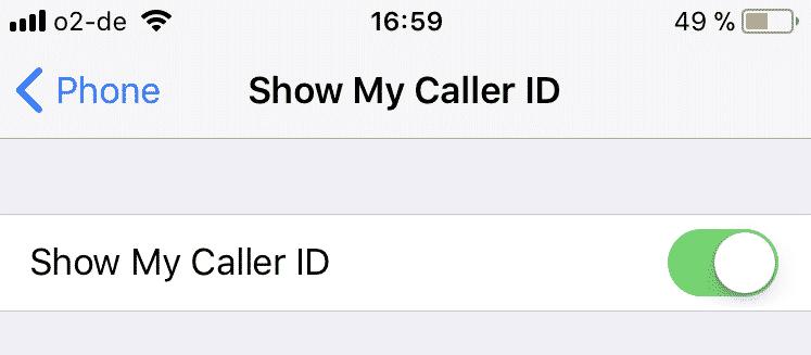 Cómo activar y desactivar la identificación de llamadas del iPhone y la llamada en espera 3