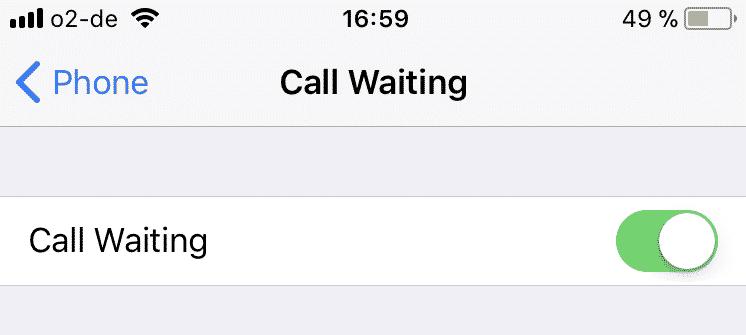 Cómo activar y desactivar la identificación de llamadas del iPhone y la llamada en espera 5